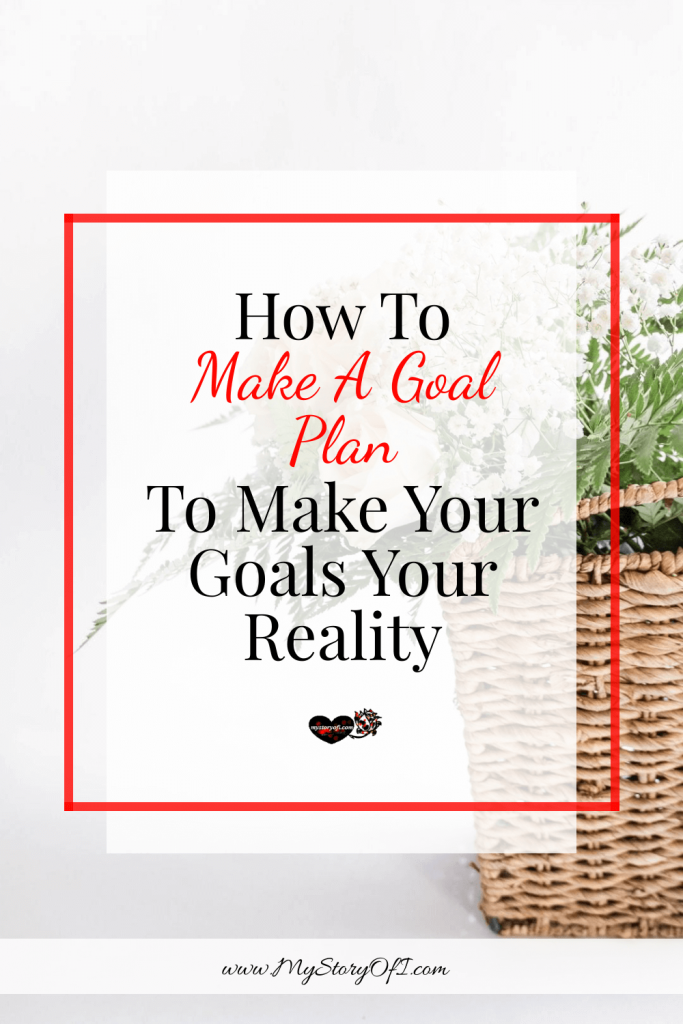 How to make a goal plan to make your goals your reality with plant in the background