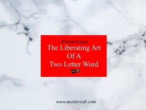what saying the two letter word no can do for you