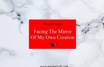 standing in front of the mirror that I created