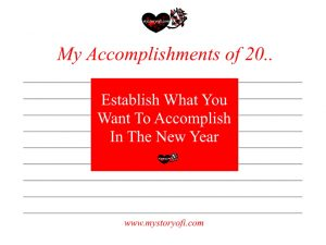 Establish What You Want To Accomplish In The New Year