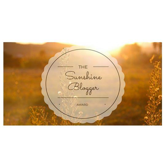 My Story Of I Sunshine Blogger Award