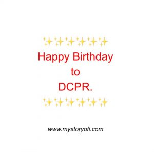 Happy Birthday to DCPR.