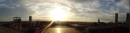 Panorama of a Sunset in Brussels