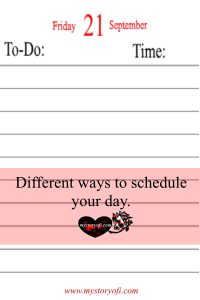 schedule your days more efficiently