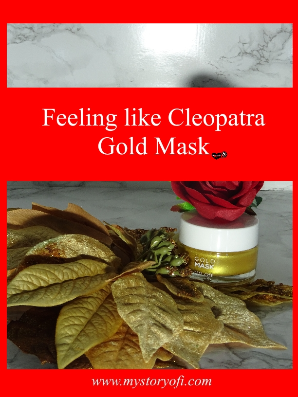 Feeling like Cleopatra gold mask