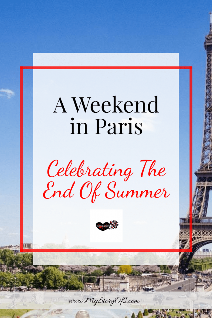 weekend in paris celebrating the end of summer with eiffel tower background