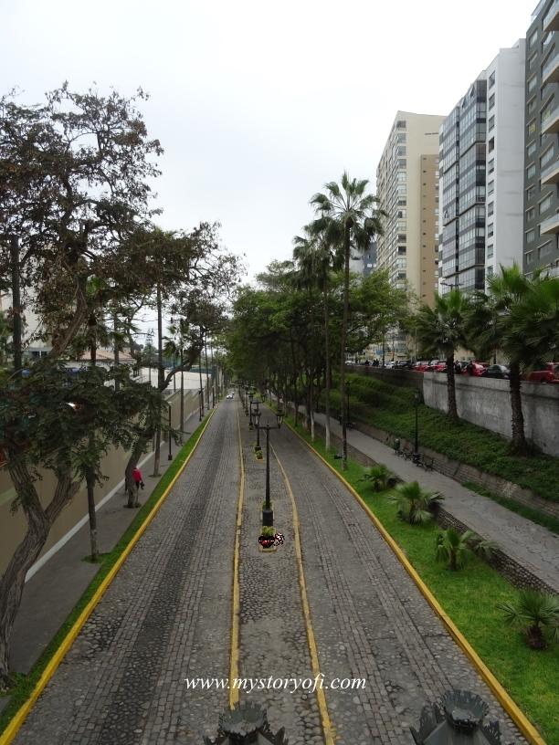 Which road are you on? Road in Miraflores, Lima Peru.