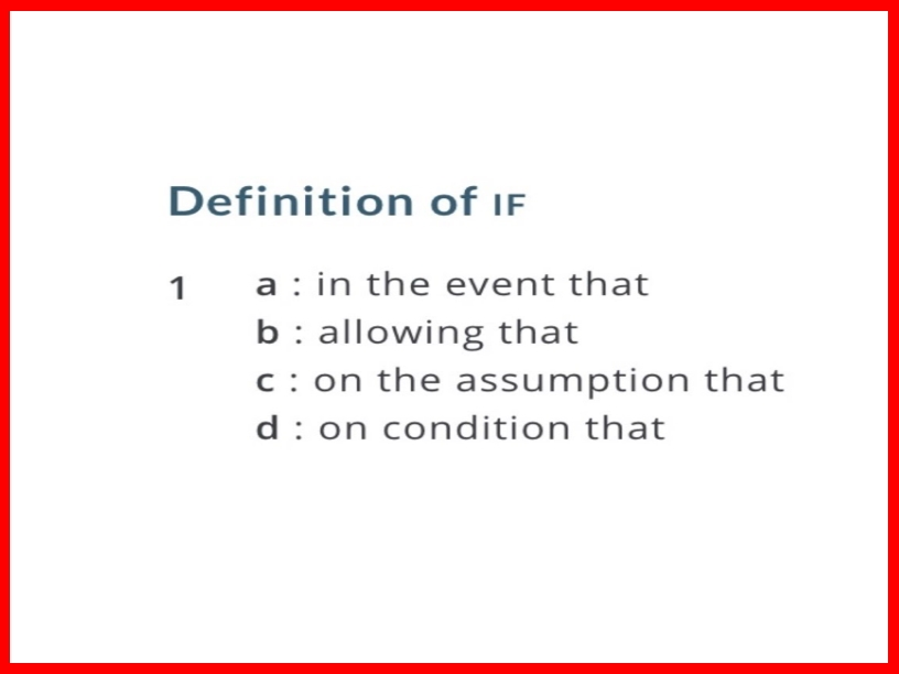 definition-of-if