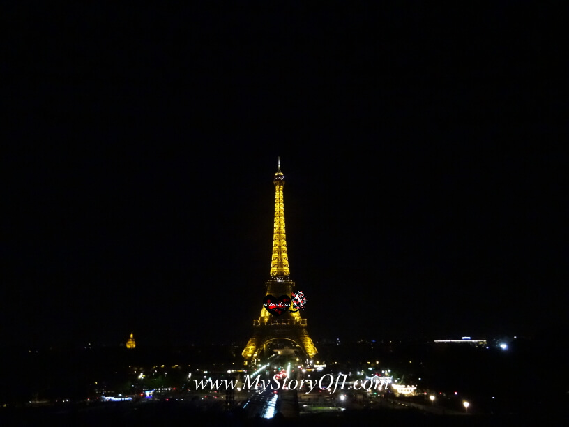 dancing with a view at Trocadero Paris France