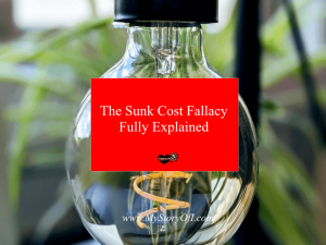 the sunk cost fallacy fully explained